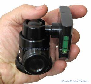 Slik SBH-280E BK rotule monoball avec plateau rapide équipé de deux niveaux.